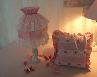 Life in pink... LAMP shade dome and its matching pillow