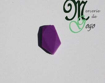 Purple arrow silicone flat bead.