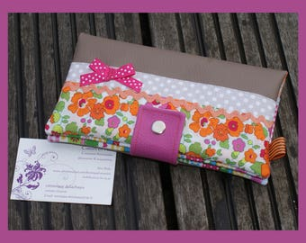 """checkbook, cards """"little clementine"""" faux leather"""