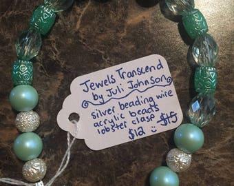 Mint & Pearl Bracelet