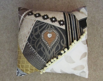 Crazy Patchwork Cushion