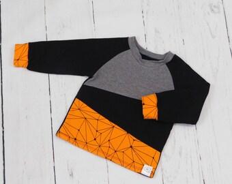 Baby boy blouse Gray/orange/black