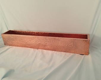 Hammered copper planter box