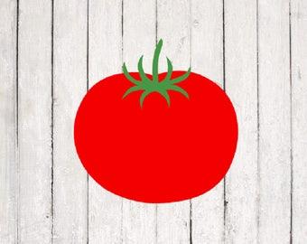 Tomato SVG| Tomato cut File Design | Monogram svg Files | Silhouette Files | Cricut Files | SVG Cut Files | PNG Files