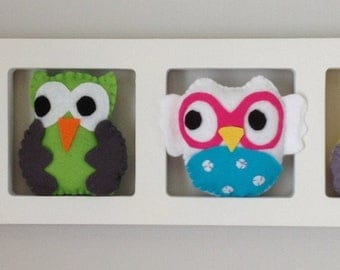 Children's room decoration. Woodland owls!
