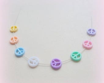 50 beads Peace and Love - 7 colors