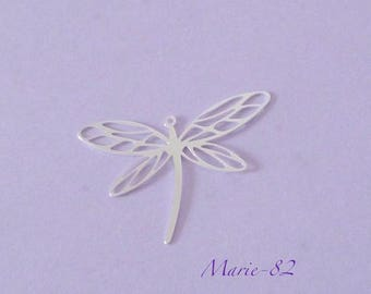 Dragonfly - Pendant 1 / 30 mm - sterling silver charm