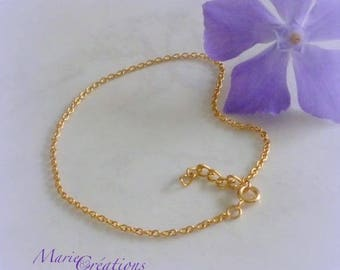Chain link Anklet / 18K gold plated