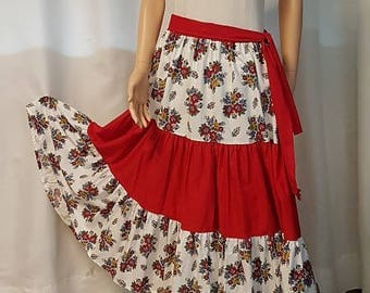 1 Provencal long ruffled skirt. HAND MADE.