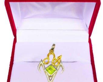 Negative Energy Clearance Amulet Peridotos –Libera-Briar Gemstones