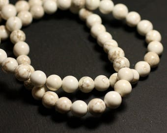 Stone - Magnesite beads 1 strand 39cm balls 14mm