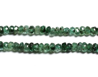 10pc - stone - Zambian Emerald faceted Rondelle 2.5x1.5mm - 4558550090492 beads