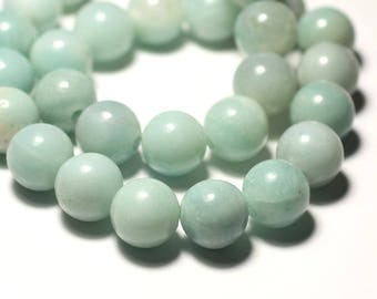 Stone - Amazonite ball 14 mm bead 1pc - big hole 3mm - 8741140019355