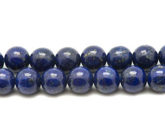 10pc - stone beads - Lapis Lazuli 8mm - 4558550036650 balls