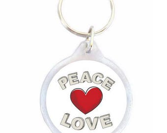 Peace Keychain Love heart