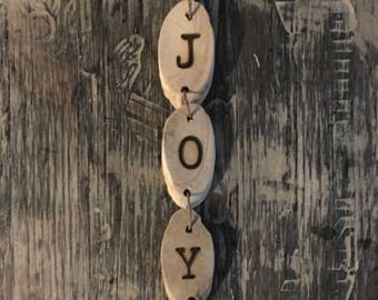 Hand-branded Driftwood Ornament