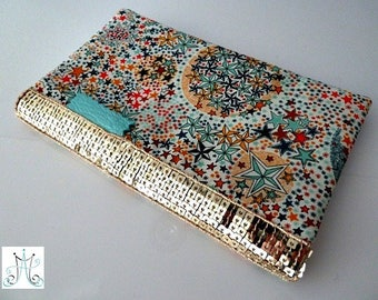 Door checkbook Liberty Adeladja multicolor and gold glitter band