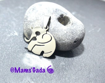 Silver Pendant shaped Elephant stainless steel REF:2 / 203