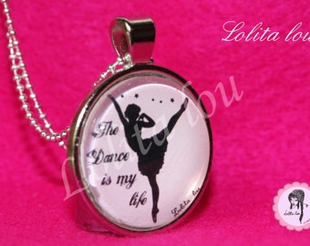 Necklace dance pattern ' ballerina/the dance is my life.