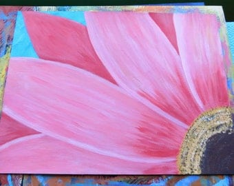 Pink Sunflower painting