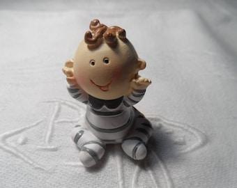 miniature boy baby baptism, birthday cake resin