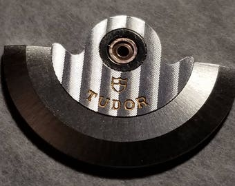 Eta 2824 rotor for vintage tudor watches rhodium plated
