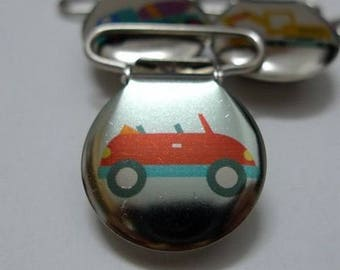 Pacifier clip-red car