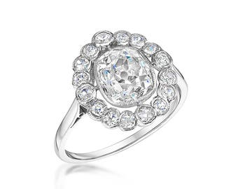 Vintage Old Mine Cut diamond ring