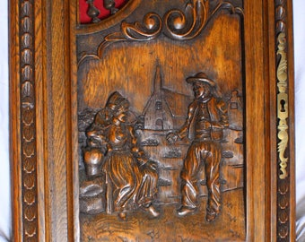 French Hand Carved Cupboard Door