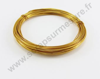 Ø 1 mm x 2 m - light ORANGE - aluminum wire