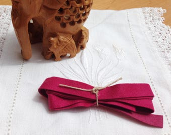 Ribbon MOKUBA raspberry pink suede
