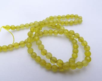 90 4 mm rhinestones-520 colored agate faceted round beads