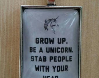 Grow Up, Be A Unicorn Necklace