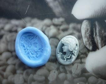 Woman cameo mold romantic 17mm / 15mm
