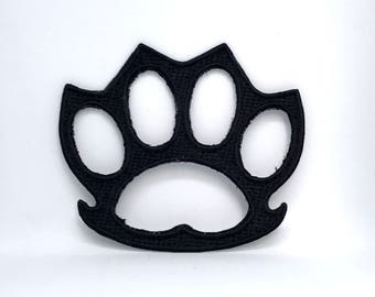 971# Knuckle Duster Rings Biker Applique Iron on Embroidered Patch