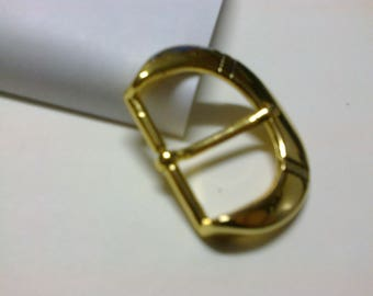 """Rounded """"D-shaped"""" buckle brass passage 3cm * BO74 *."""