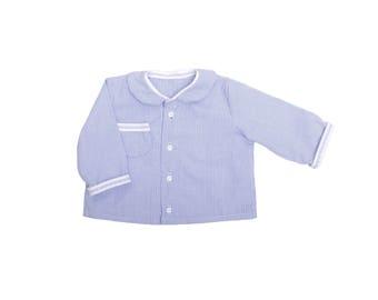 Baby boy chic sky blue shirt