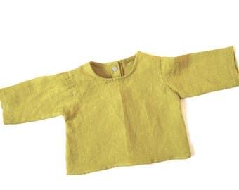 Shirt blouse linen size newborn to 3 months baby