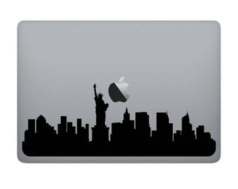 Limited time launch discount - MacBook Vinyl - NEW YORK - Decal, City Silhouette, Personalized sticker (Macbook, Air, Pro, Retina, 13, 15)