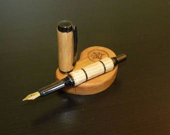 Fountain pen made of ash wood