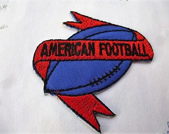 american football 9047.2 applique patch for customization sewing patch iron or sew vintage
