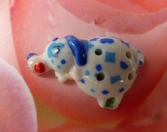 """dog button Bean collection porcelain circus series """"circus"""""""
