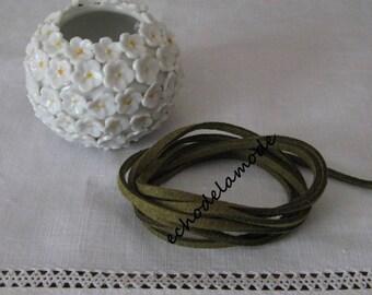 1 m khaki green suede 3 mm bracelet creations