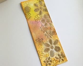 Watercolor mixed media paper bookmarks