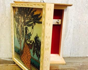 Key Holder,Wooden key Holder,Wooden keybox,Wooden Box,Indian key holder