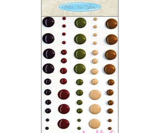 "60 jelly stickers ""Me to You"" embellishments scrapbooking (ref.110) *."