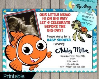 Superb Finding Nemo Baby Shower Invitations   Itu0027s A Boy Baby Shower Invitations    Printable File