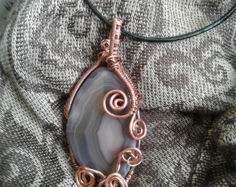 Copper Wrapped Agate