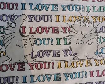 I Love You!  Cartoon Sandra Boynton Pillowcase Standard Pillow Case