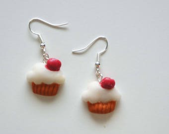 Polymer clay - Cupcakes nature earrings